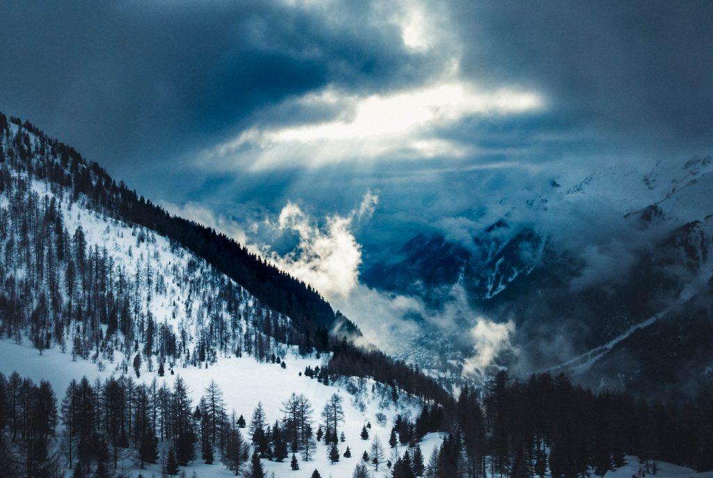 Lit clouds