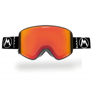 Black With Orange Fire Lens